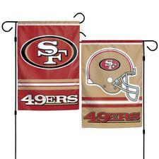 "Brand  New NFL San Francisco 49ers 2 Sided 12.5"" X 18"" Garden Flag Wincraft"