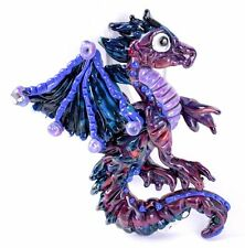HANDMADE Artisan Lampwork Glass Bead Blue Dragon