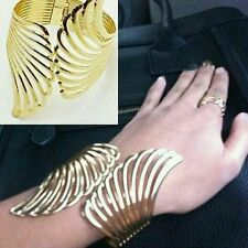 Angel Winged Alloy Hand Alloy Cuff For Girls And Women Size_2.5-Golden