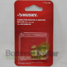 Husky 1/4 in. Corrosion Resistant Brass Male/Male Connectors (2 Packs)