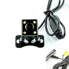 Parking Camera Rear View Reverse With 4x LED Light for GPS Tablet 2.5MM AV In
