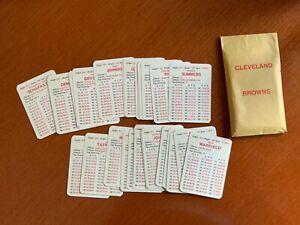 Cleveland Browns 1969 season APBA Original 30 Card Team Set— Exc/NRMt