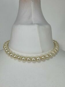 Vintage Teng Yue Pearl Necklace Silver Plated Glamour Pearls