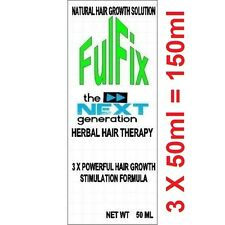 3 X 50ml 150ml FulFix Hair Loss Herbal Therapy NEXT GENERATION FORMULA & BIOTIN.
