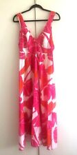 Warehouse - Womens Stunning Floral Cotton Maxi Dress in Multi Colour/UK 10/Used