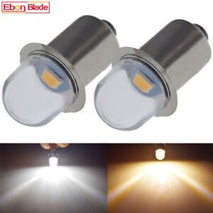 Warm White P13.5S LED Bulb 3V 4.5V 6V 12V 18V For Maglite Flashlight Torch Lamp