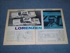 1965 Fred Lorenzen Vintage Race Car Driver Profile Article NASCAR