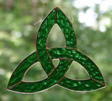 Stained Glass Celtic Trefoil