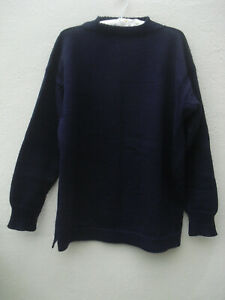 Traditional Guernsey knitwear Le Tricoteur navy blue fisherman's jumper size L