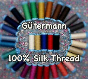 Gütermann Thread -100m Reel 100% Pure Silk for Machine and Hand Sewing Projects