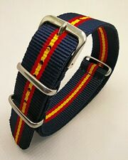 20 mm Nato Strap Correa Reloj Nylon Watch band Azul y rojigualda. Spanish flag.
