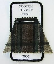 'Scotch Turkey Fest' 2006 cloth rally patch scooter club Vespa Lambretta tartan