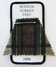 'Scotch Turkey Fest' 2006 cloth rally patch scooter club Vespa Lambretta tartan