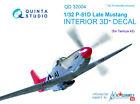 Quinta QD32004 1/32 P-51D Late 3D-Printed  coloured interior for Tamiya kit