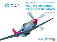 Quinta QD32004 1/32 P-51D Late 3D-Printed & coloured interior (for Tamiya kit)