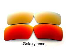 Lentilles de remplacement galaxy Pour Oakley Eyepatch 1 & 2 Rouge & Or Polarisé 2 Paires