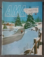 1972 JANUARY AMA MAGAZINE MOTORCYCLE NEWS MOTO X DIRT HONDA YAMAHA SUZUKI HODAKA