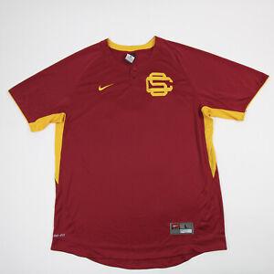 USC Trojans Nike Dri-Fit Game Jersey - Baseball Men's Crimson/Gold Used