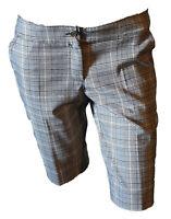 Bermuda Shorts Pantalone Corto Tweed Scozzese Donna Grigio PRENTIS Taglia M Slim