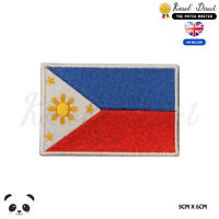 PHILIPPINES National Flag Embroidered Iron On Sew On Patch Badge For Clothes etc