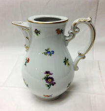 """HUTSCHENREUTHER """"MIRABELL"""" SMALL COFFEE POT / NO LID 6"""" PORCELAIN NEW  GERMANY"""