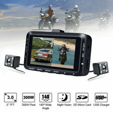 1080P Hd 3 Inch Dual Camera Motorcycle Dvr Dash Cam Driving Recorder Waterproof