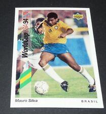 MAURO SILVA BRASIL DEPOR FOOTBALL CARD UPPER DECK USA 94 PANINI 1994 WM94