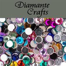 1000 x 5mm Mixed Colours Diamante Loose Flat Back Rhinestone Craft Embellishment
