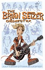 Rockabilly: The Brian Setzer Orchestra at Ottawa Blues Fest Concert Poster 2009