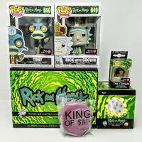 Rick and Morty Box (GameStop) - Rick with Crown #649 + Tony #650 Funko Pop Vinyl