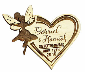 Rustic Wedding Save the Date Wooden Magnet 25 Custom Engraved Wooden Magnet-MG17