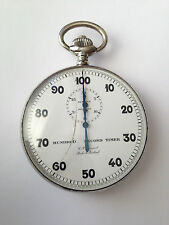 Vintage Swiss Made 100 Seconds Stopwatch Big G.L. Guinand  Locle Switzerland