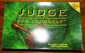 Judge for Yourself Special Edition Partially sealed 1998 100% Complete Pressman