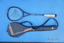 Dunlop Black Max Plus Squash Racquet Graphite Missing Grip with Original Cover