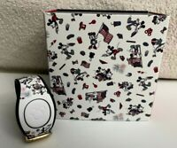 Disney Parks Dooney & Bourke Mickey and Minnie Mouse Americana Magic Band 2 LE