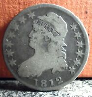 Very Nice Early Date 1812 Silver Capped Bust Half Dollar