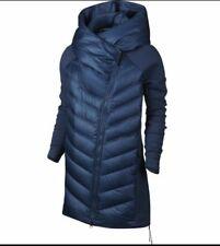 Nike Aeroloft 800 Down Tech Fleece Women's L 804976-423 Blue Parka $375