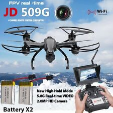 2Battery FPV JD 509G 6-Axis Gyro RC Quadcopter Drone 5.8G HD Camera with Monitor