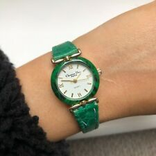 Christian Dior Watch Green Gold Vintage Small Face Wristwatch