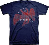 Led Zeppelin Red Icarus Stars US Tour 1977 Classic Rock Music T Shirt LDZ-1002