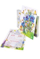 Baby Shower Prediction and Advice Cards Invitation, Watercolor Design by PETANI