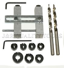 WOODWORKING JIG POCKET HOLE GUIDE INCLUDES SPLIT RING KIT & STEP DRILL SET NEW