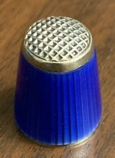 Sterling Silver and Guilloche Thimble, Norway