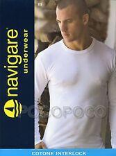 Maglia Girocollo Uomo Manica lunga cotone Caldo Navigare Art. 113 Grigio 6-xl