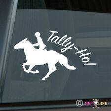 Tally-Ho Fox Hunting Sticker Die Cut Vinyl - girl horse foxhunting equestrian