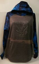 And 1 Black Hoodie Pullover Blue Camo Arms~~Sunfaded~~NWT