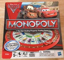 Pixar Cars 2 Disney Monopoly Board Game Lightning Mcqueen Racetrack Complete