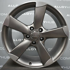 "GENUINE AUDI Q7 4L 21"" INCH ROTOR ARM SPOKE GREY/DIAMOND CUT ALLOY WHEELS SET X4"