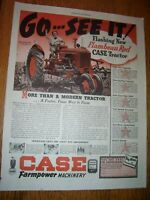 VINTAGE JI CASE ADVERTISING -#  DC TRACTOR & IMPLEMENTS - 1939-10 1/2 x 13 1/2""