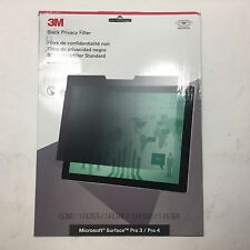 3m Privacy Filter For Microsoft Surface Pro 3 / Pro 4 - Landscape Black